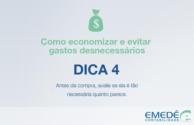 Dica de economia